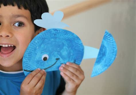 whale paper plate craft paper plate whale in the playroom
