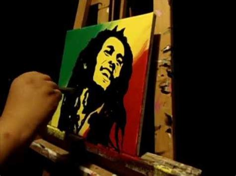glow in the paint jamaica bob marley painting