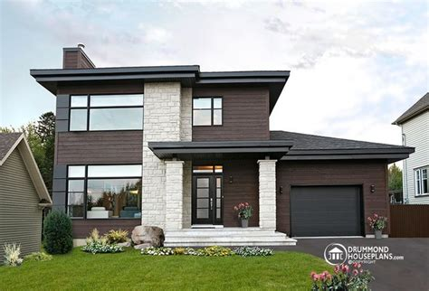 modern homes plans contemporary modern house plan no 3713 v1 by drummond