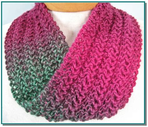 easy knit infinity scarf knitting pattern knit lace easy for by