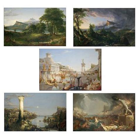 course of the series 1 the course of empire prints set of 5 new york historical