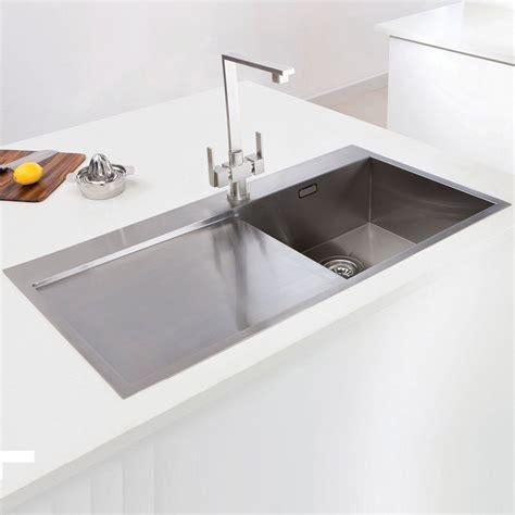 bowl kitchen sinks caple cubit 100 stainless steel single bowl inset kitchen sink