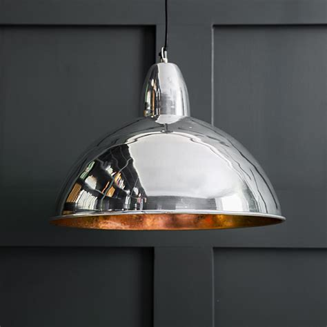 contemporary lights ceiling contemporary ceiling pendant light in chrome and copper