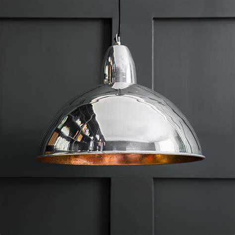 pendant light contemporary contemporary ceiling pendant light in chrome and copper