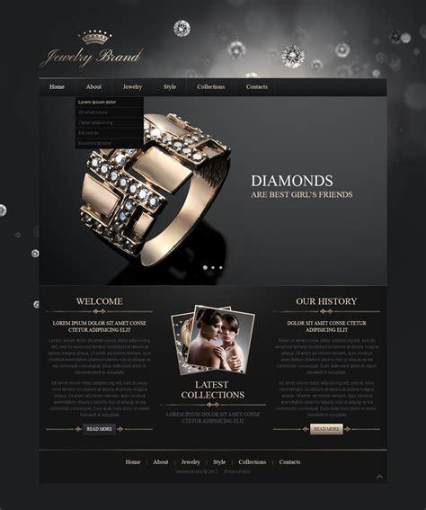 Jewelry Responsive Website Template Web Design Templates