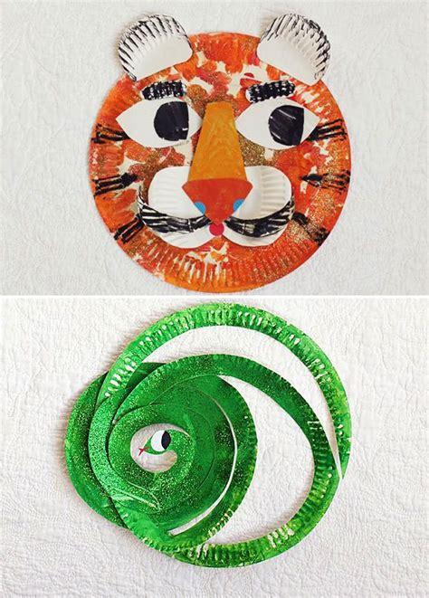 tiger paper plate craft paper plate mr tiger mr snake craft preschool crafts