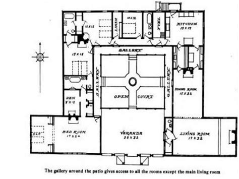 small style home plans hacienda style house plans with courtyard small hacienda