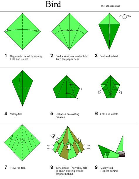 how to make a origami origami bird birkeland