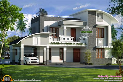 home design roof plans curved roof flat roof house plan kerala home design and