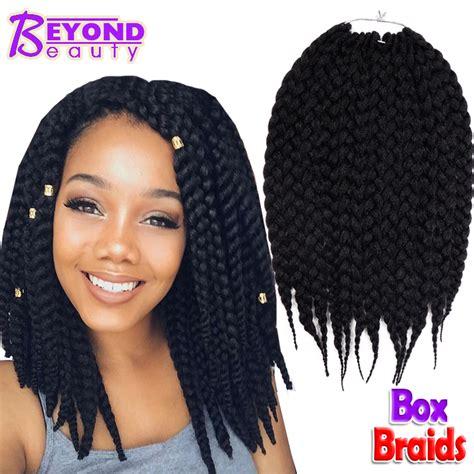 box braids hairstyle human hair or synthtic box braids hair crochet 12 18 crochet hair extensions