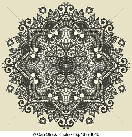 vecteur cercle dentelle ornement rond d 233 coratif