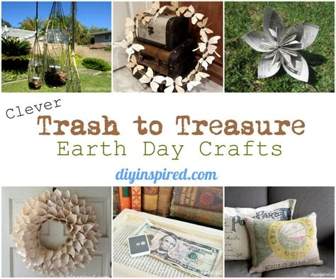 trash to treasure crafts for upcycling ideas upcycling craft ideas diy inspired