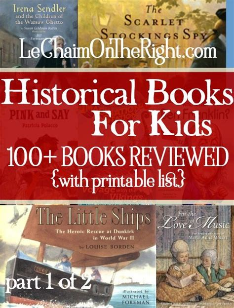 history picture books free printable list of historical books
