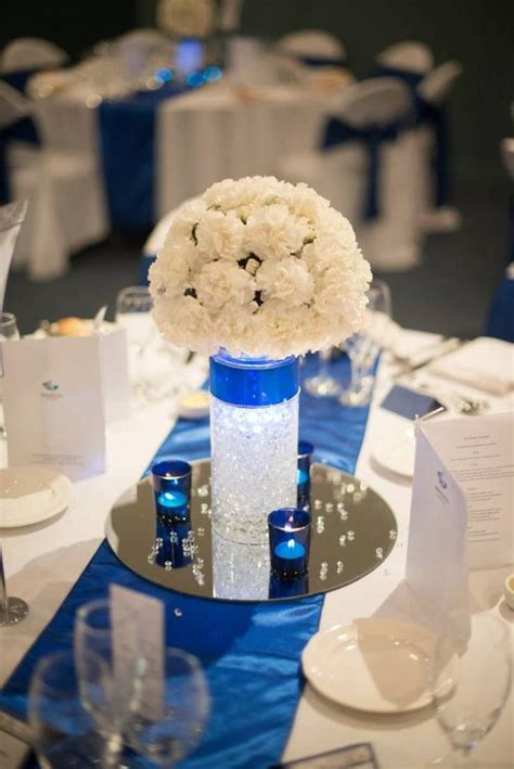 royal blue and silver centerpieces royal blue centerpiece for quinceanera quince