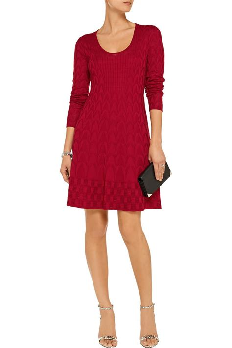 wool knitted dress m missoni s crochet knit wool blend dress style