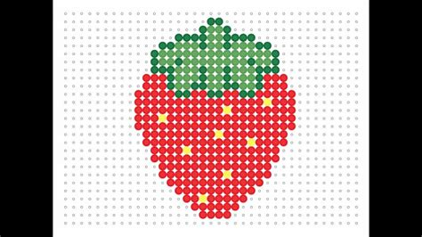 hama food hama bead strawberry food series 5