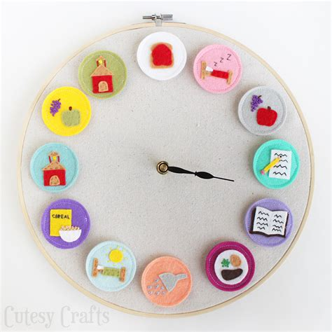 clock crafts for diy clock for cutesy crafts