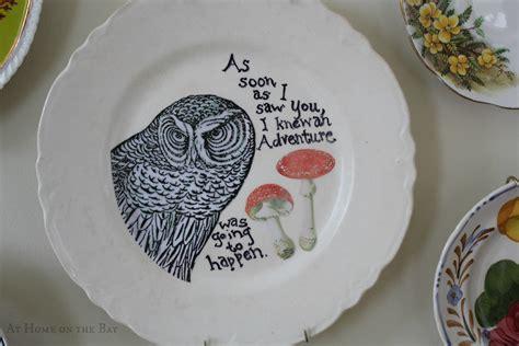owl decoupage as soon as i saw you decoupage owl plate