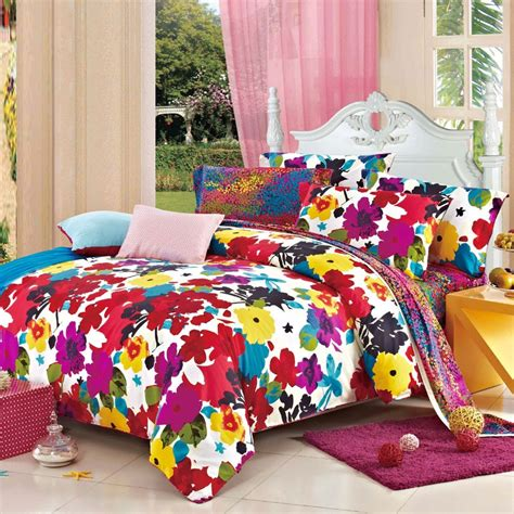 bright bedding and bright colorful fashion luxurious floral 100