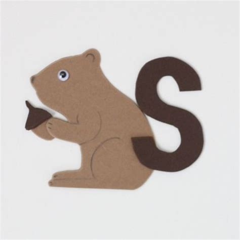squirrel crafts for s is for squirrel abc