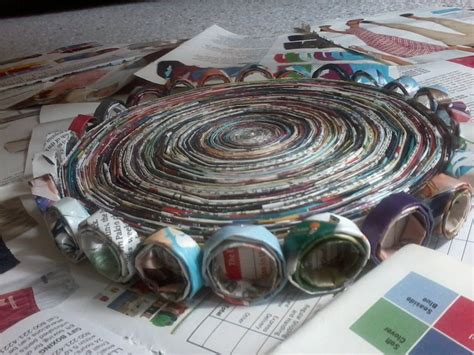 how to make waste paper craft magazine waste basket 183 how to make a recycled bowl