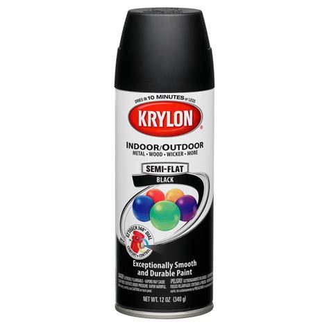 spray paint black shop krylon 12 oz black matte spray paint at lowes