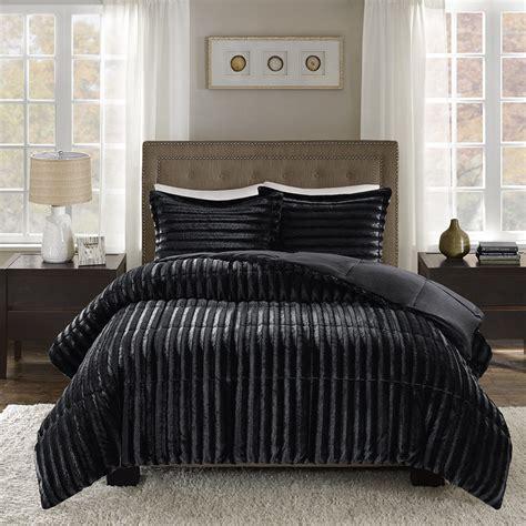fur bedding sets park duke faux fur comforter mini set