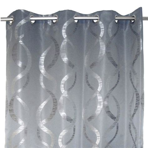 rideau aqua gris l 140 x h 260 cm leroy merlin