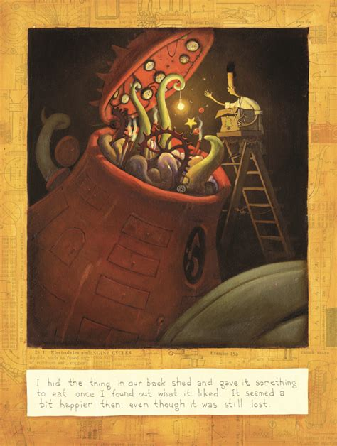 the lost thing picture book featured illustration feeding time by shaun