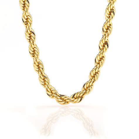 chain jewelry stainless steel twisted chain necklace gold plated