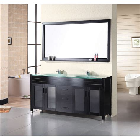 waterfall bathroom vanity design element waterfall 72 quot bathroom vanity