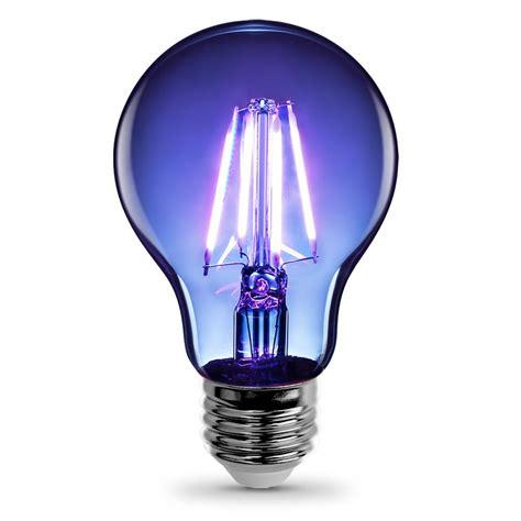 blue led light bulb feit electric 3 6 watt blue a19 filament led light bulb