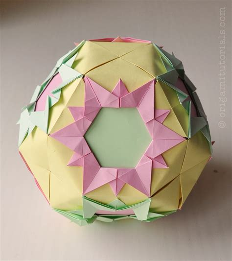 origami kusudamas muntazar kusudama tutorial origami tutorials