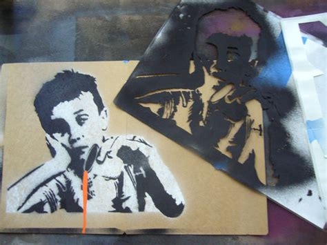 spray painting using stencils creating complex spraypaint stencils by