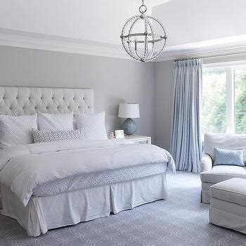 light blue grey bedroom light gray bedroom with ivory curtains transitional