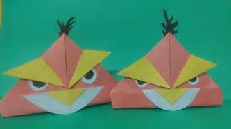 angry birds origami how to make angry bird origami paper angry bird paper
