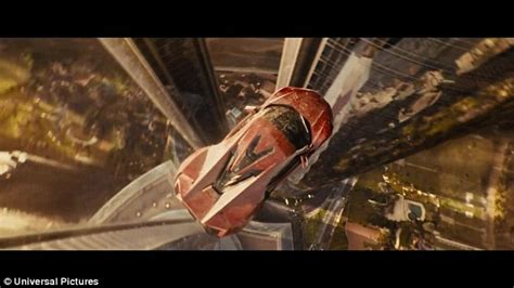 out fast paul walker drives out of plane in new fast furious 7