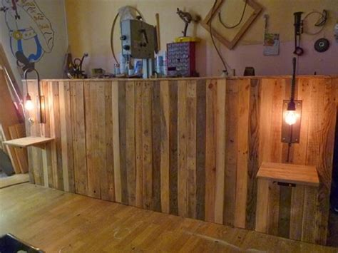 diy headboards with shelves pallet bed headboard with shelves pallet ideas recycled