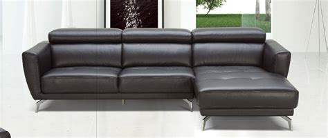 modern leather sofas and sectionals black leather contemporary sectional sofa with tufted