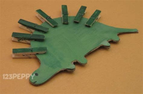 dinosaur crafts for to make how to make a stegosaurus 123peppy