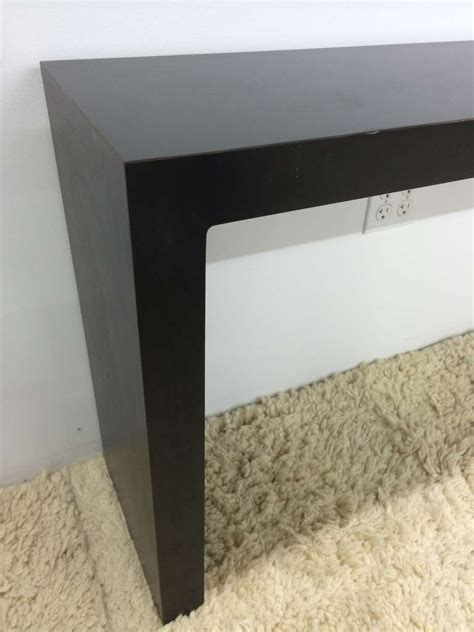 parsons sofa table matte black parsons sofa table at 1stdibs