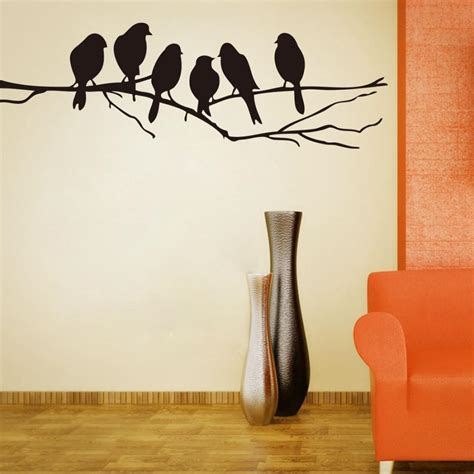 black wall stickers free shipping diy wall stickers decal removable black bird