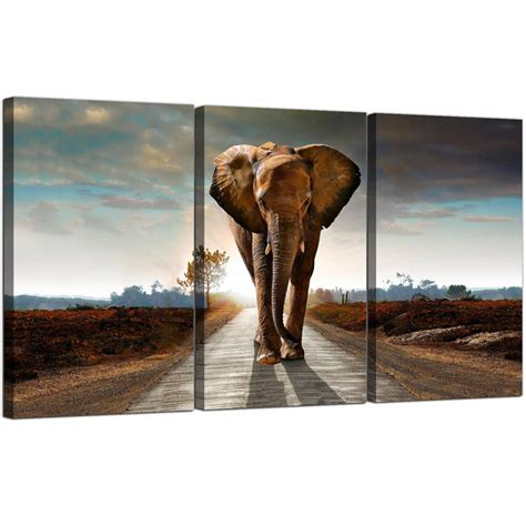 20 best collection of elephant canvas wall