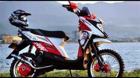 Modifikasi Matic Yamaha by 84 Modifikasi Motor Matic Trail Modifikasi Trail