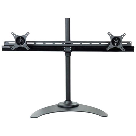 tv desk mount stands dyconn de9e2s s dual tv monitor desk mount stand equal b h