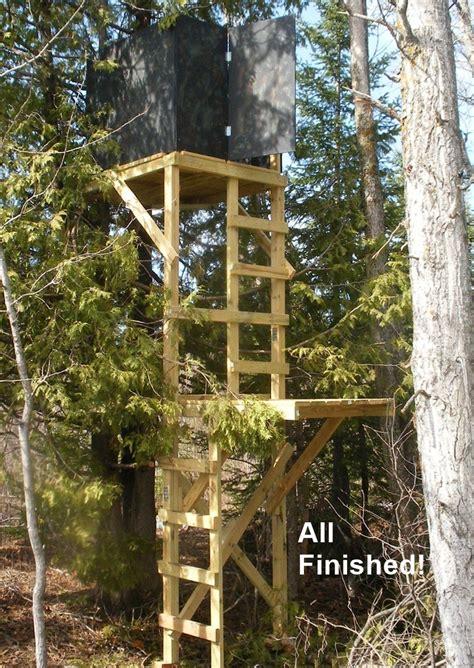 tree stand plans free deer stand building plans blinds ladder platform