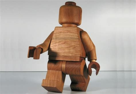 large wooden large wooden lego minifig