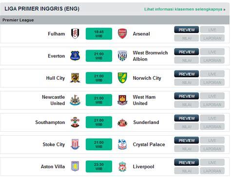 jadwal liga inggris agustus 2013 topscore and news