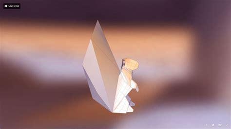 3d origami squirrel 3d model realistic 3d model of a paper origami squirrel vr