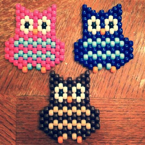 pony bead owl made out of pony by ashleybuschpaintings on etsy